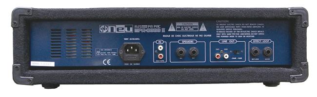 Neu MPA-8000III stereo背面部分